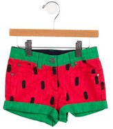 Stella McCartney Girls' Watermelon Print Mini Shorts