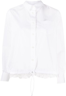 Sacai Lace-Panel Shirt