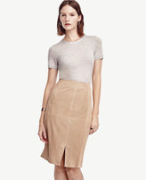 Ann Taylor Petite Suede Pencil Skirt