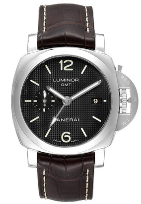Panerai Black Stainless Steel Luminor 1950 PAM00535 Men's Wristwatch 42 MM
