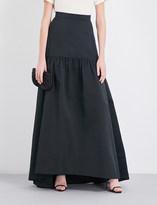 Max Mara Elegante Gallico woven maxi skirt
