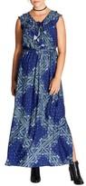 City Chic Plus Size Women's Patchwork Print Maxi Dress