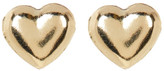 Candela 14K Yellow Gold Heart Stud Earrings