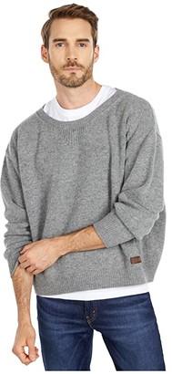 DSQUARED2 Boxy Fit Crew Neck Sweater (Melange Grey) Men's Clothing