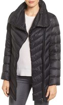 Sam Edelman Women's Asymmetrical Chevron Quilted Down Coat