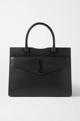 Saint Laurent Uptown Medium Textured-leather Shoulder Bag