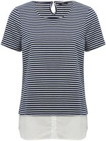 M&Co Two in one stripe jersey shirt