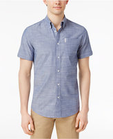 Ben Sherman Men's Classic Fit Chambray Short Sleeve Shirt