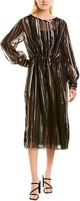 IRO Beloved Silk-Blend Shirtwaist Dress