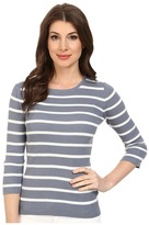 Pendleton 3/4 Sleeve Stripe Pullover