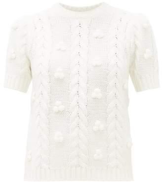 Shrimps Elea Cabled Merino Blend Sweater - Womens - Cream