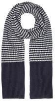 River Island Blue Stripe Knit Scarf