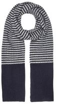 River Island MensBlue stripe knit scarf