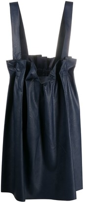 Stefano Mortari Faux Leather Pinafore Skirt