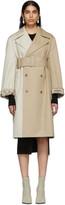 MM6 MAISON MARGIELA Beige Two-Tone Trench Coat