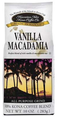 Hawaiian Isles Vanilla Macadamia Blend Medium Roast Ground Coffee - 10oz