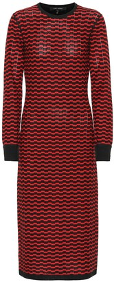 Marc Jacobs Zigzag stripe merino wool dress