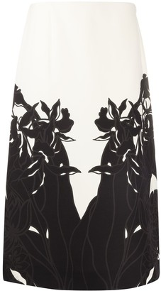 Valentino floral print A-line skirt