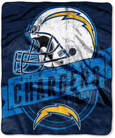 Northwest Company San Diego Chargers Grand Stand Plush Throw Blanket