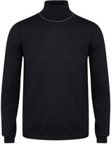 Pal Zileri Navy Fine-knit Wool Jumper