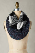 Anthropologie Patched Plaid Infinity Scarf