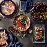 Spanish Floral Dinner Plates, Set of 4