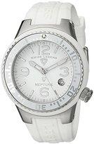 Swiss Legend Women's 11044P-02-WHT Neptune White Dial White Silicone Watch