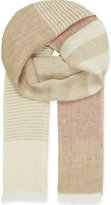 Richard James Colour Block Linen Scarf