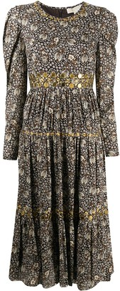 MICHAEL Michael Kors Paisley Print Midi Dress