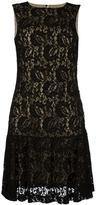 Moschino lace ruffled dress - women - Polyamide/Rayon - 40
