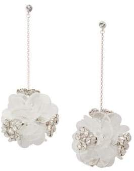 Kate Spade Rhodium-Plated Blooming Bouquet Drop Earrings