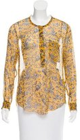 Etoile Isabel Marant Printed Silk Blouse w/ Tags