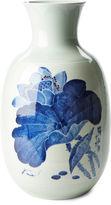 One Kings Lane 21 Lotus Vase, Blue/White