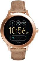 Fossil Q Venture Gen 3 Leather-Strap Smart Watch
