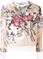 Fendi layered floral top - women - Silk/Cotton/Polyester/metal - 40