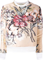 Fendi layered floral top - women - Silk/Cotton/Polyester/metal - 42