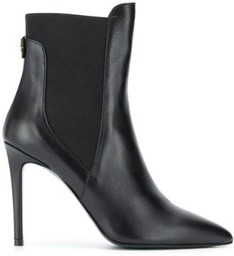 Patrizia Pepe Elastic-Panel Stiletto Ankle Boots
