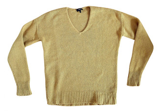 Theory Yellow Cashmere Knitwear