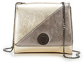 Gianni Bini Mix-and-Match Metallic Colorblocked & Quilted Lace Convertible Cross-Body Bag
