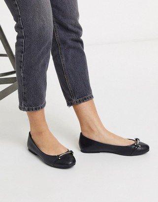 Call it SPRING cliffrise flat ballets in black