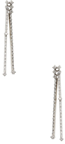 18K White Gold & 0.54 Total Ct. Diamond Line Drop Earrings