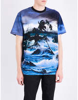 Givenchy Seascape-print Cotton-jersey T-shirt