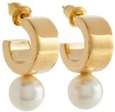 Thumbnail for your product : Simone Rocha Pearl hoop earrings