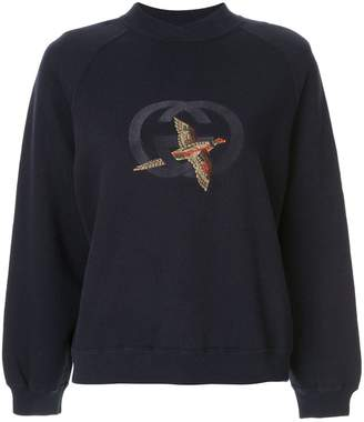 Gucci Pre-Owned bird GG embroidery sweatshirt