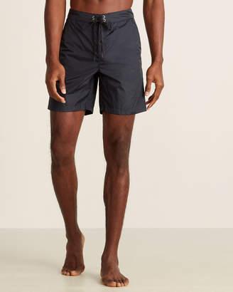 Solid & Striped Black Tech Long Board Shorts