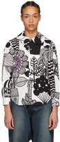 Junya Watanabe White and Black Printed Shirt