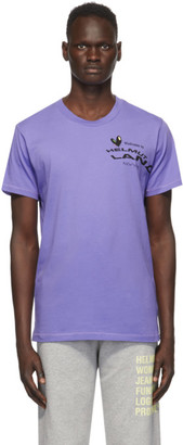 Helmut Lang Purple Helmut Land Map Standard T-Shirt