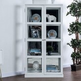 Idabel Transitional Wooden Curio Cabinet Charlton Home