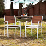 Asstd National Brand Seabrook Set of 2 Outdoor Easy Chairs