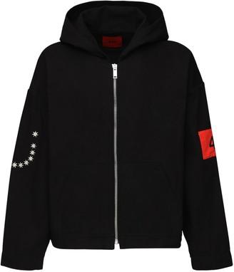 424 Zip-Up Cotton Sweatshirt Hoodie